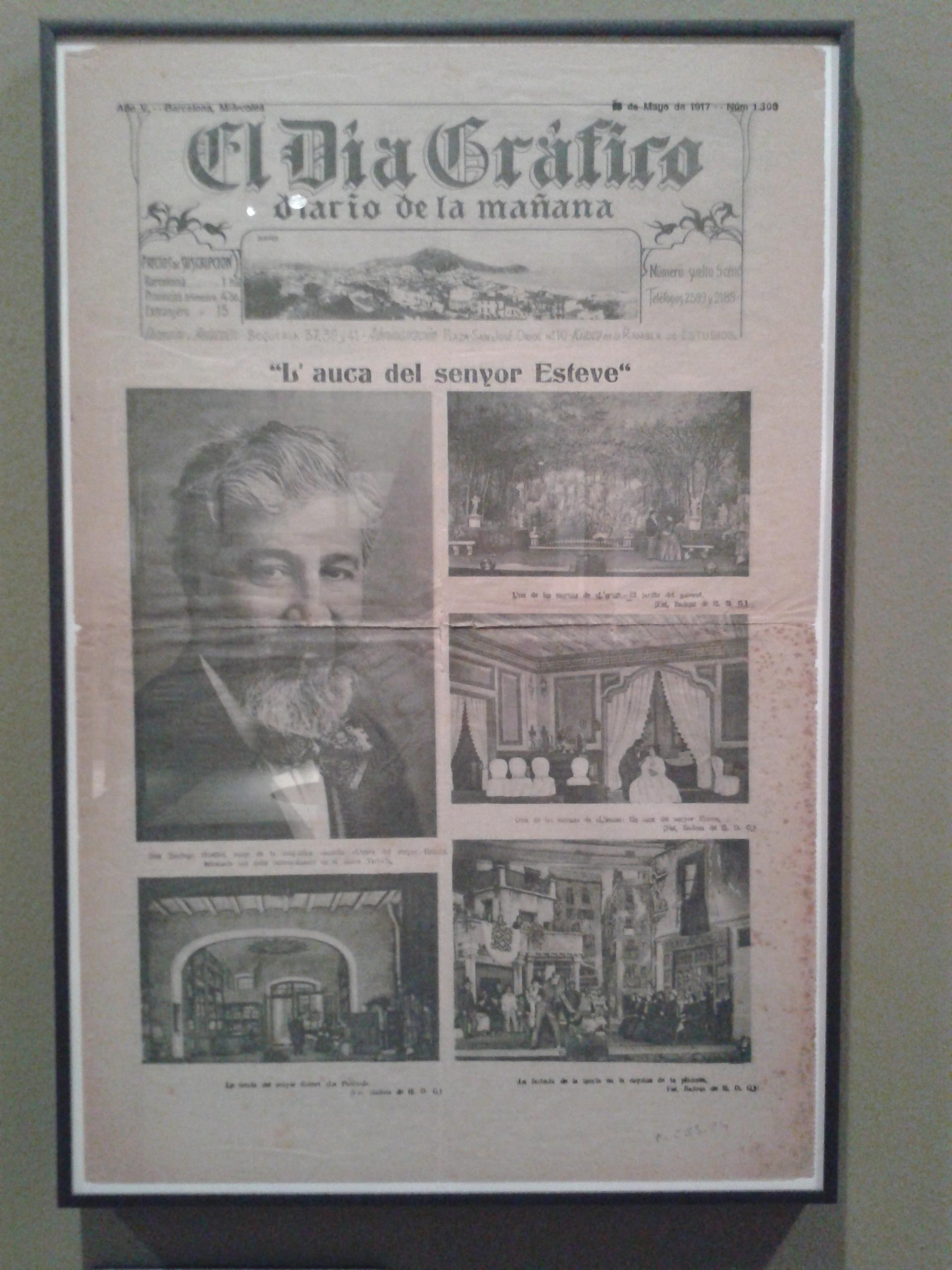 El JARDÍ DEL GENERAL. l'Auca del Sr. Esteve. 1917